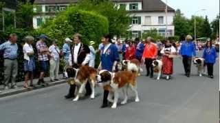 スイス、Lachenで行われたJodlerfest(ヨーデルフェスト)のパレード.