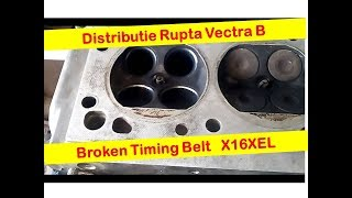 Curea Distributie Rupta Vectra B-- Broken Timing Belt X16XEL