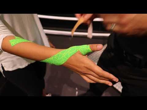 vendaje neuromuscular para tendinitis de quervain