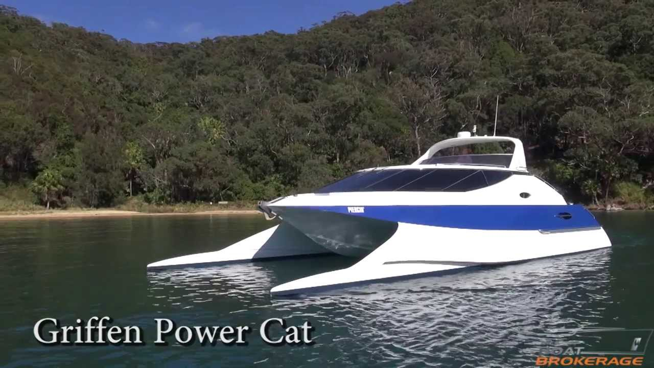 Griffin Power Cat The Boat Brokerage Youtube