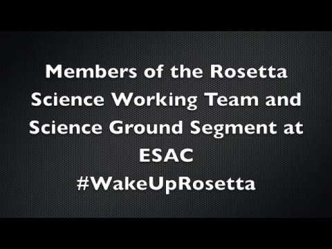 Rosetta wake up