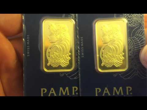 Unboxing Pamp Suisse 1 Ounce Gold Bars & Shout Outs