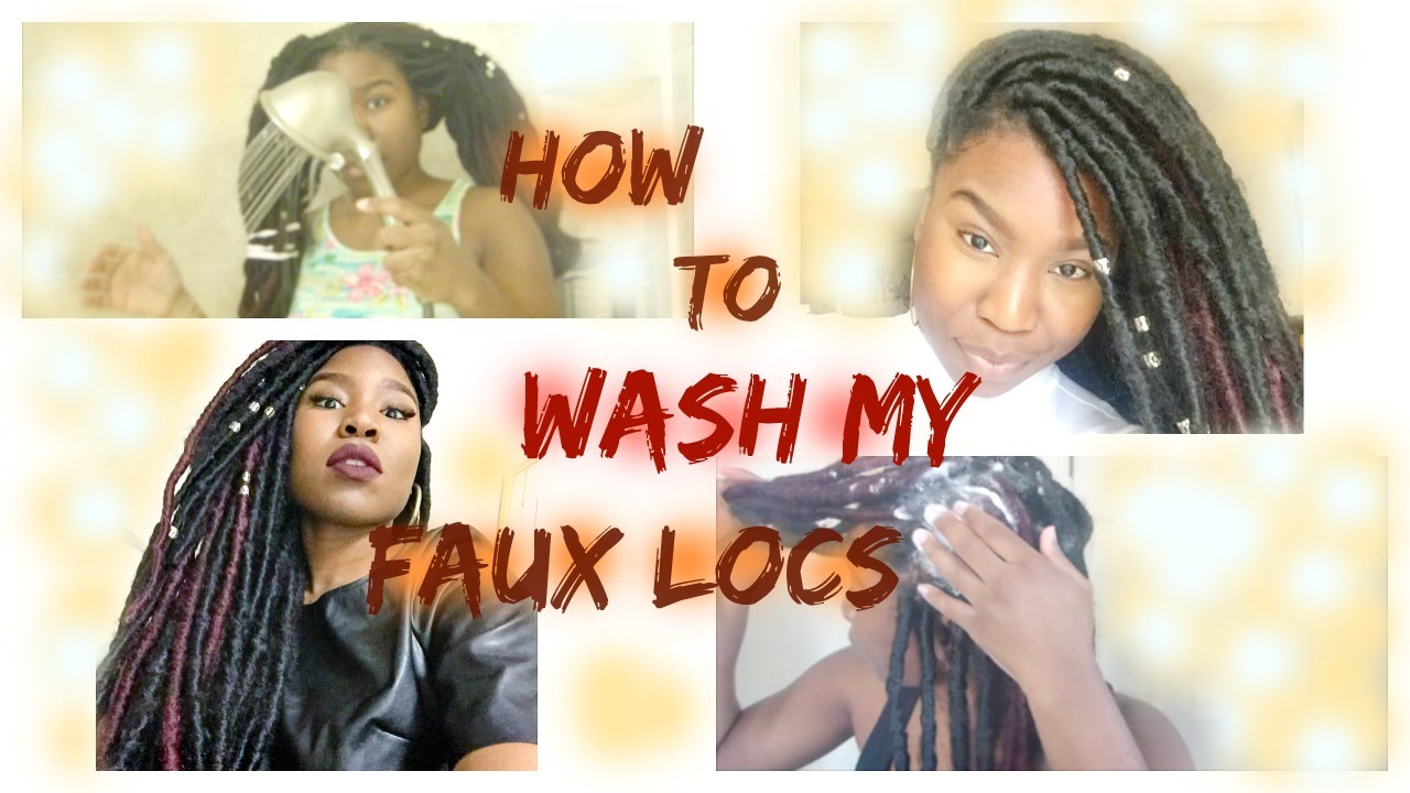 How to Wash Faux Locs