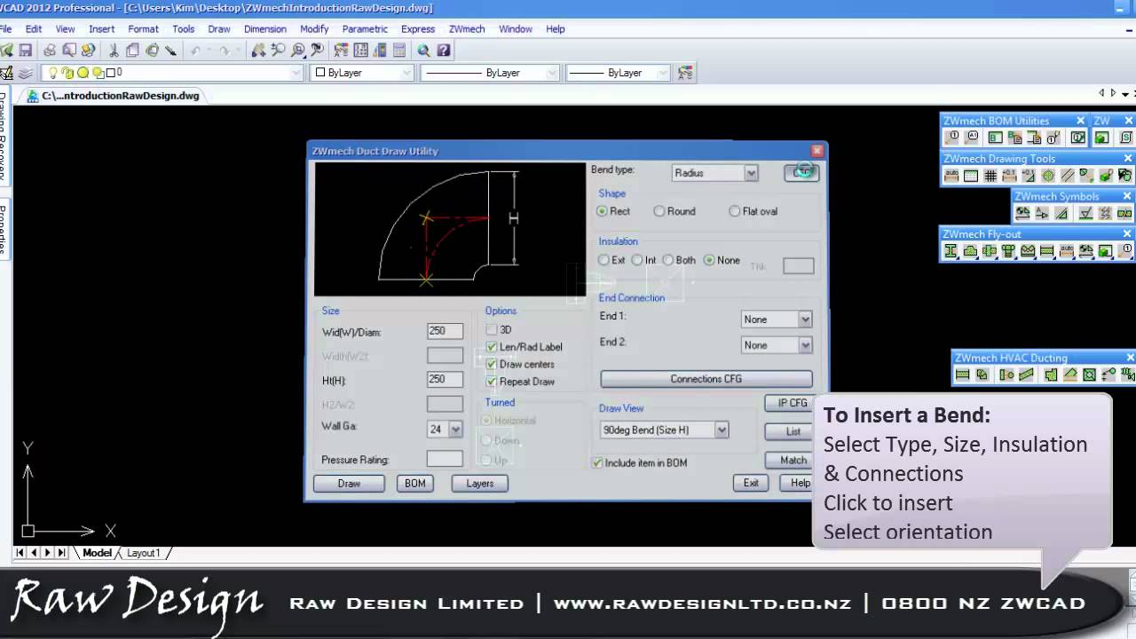 Zwmech Hvac Ducting Introduction Drawing Systems Using Autocad Mep