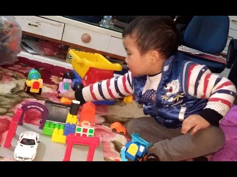 Đồ chơi ô tô, máy xúc, xe ben, cần cẩu, xây nhà - Play with kid - Kid Toy