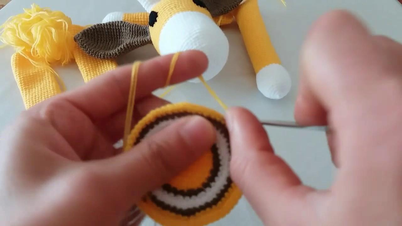 Amigurumi Zürafa Yapımı : Amigurumi zürafa yapimi youtube