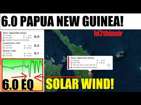 SOLAR STORM? 6.0 PAPUA NEW GUINEA AGAIN! Earths Magnetic Field DROPS!