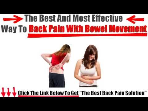 Back Pain With Bowel Movement