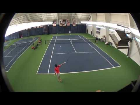 Andrei playing at a USTA Midwest U18 L1 tournament - Jan 2018