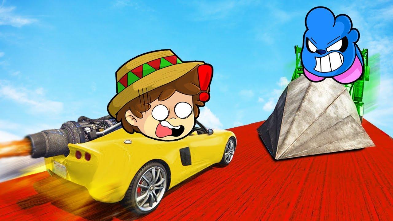 ¡NADIE PUEDE ESCAPAR del DESTRUCTOR DE COCHES! 😱🚒 AUTOS vs MEGA VEHICULOS en GTA V
