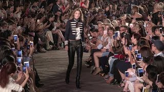 Sara Sampaio , Devon Windsor and fellow Models on the runway for the Tommy Hilfiger Fashion Show in