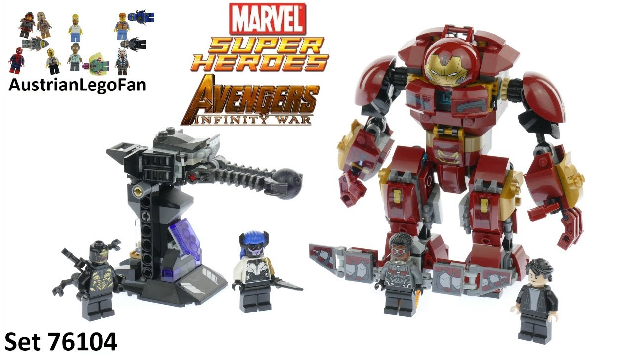Lego Avengers Infinity War Ausmalbilder: Lego Super Heroes 76104 The Hulkbuster Smash-Up