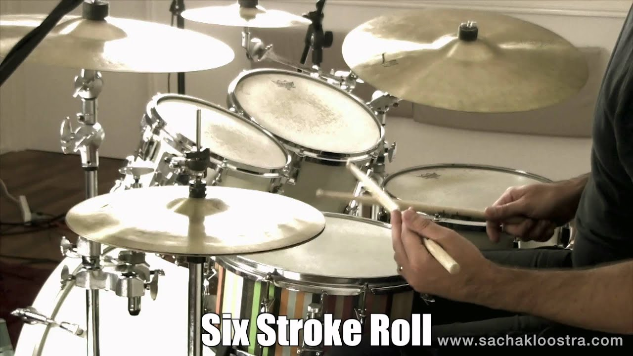 six stroke roll drum rudiment on snare drum kit youtube
