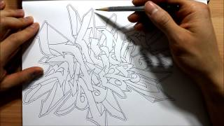 How to draw Graffiti - Wild Style   Graphics Graffiti and Illustration - drawing tutorial