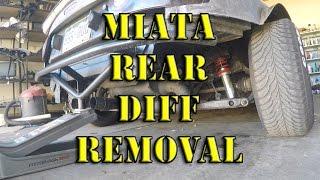 HOW TO: Miata Rear Differential Diff Removal S07E21