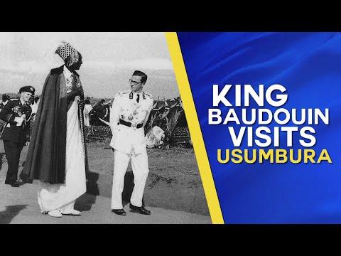 King Baudouin visits Usumbura, Belgian Ruanda-Urundi