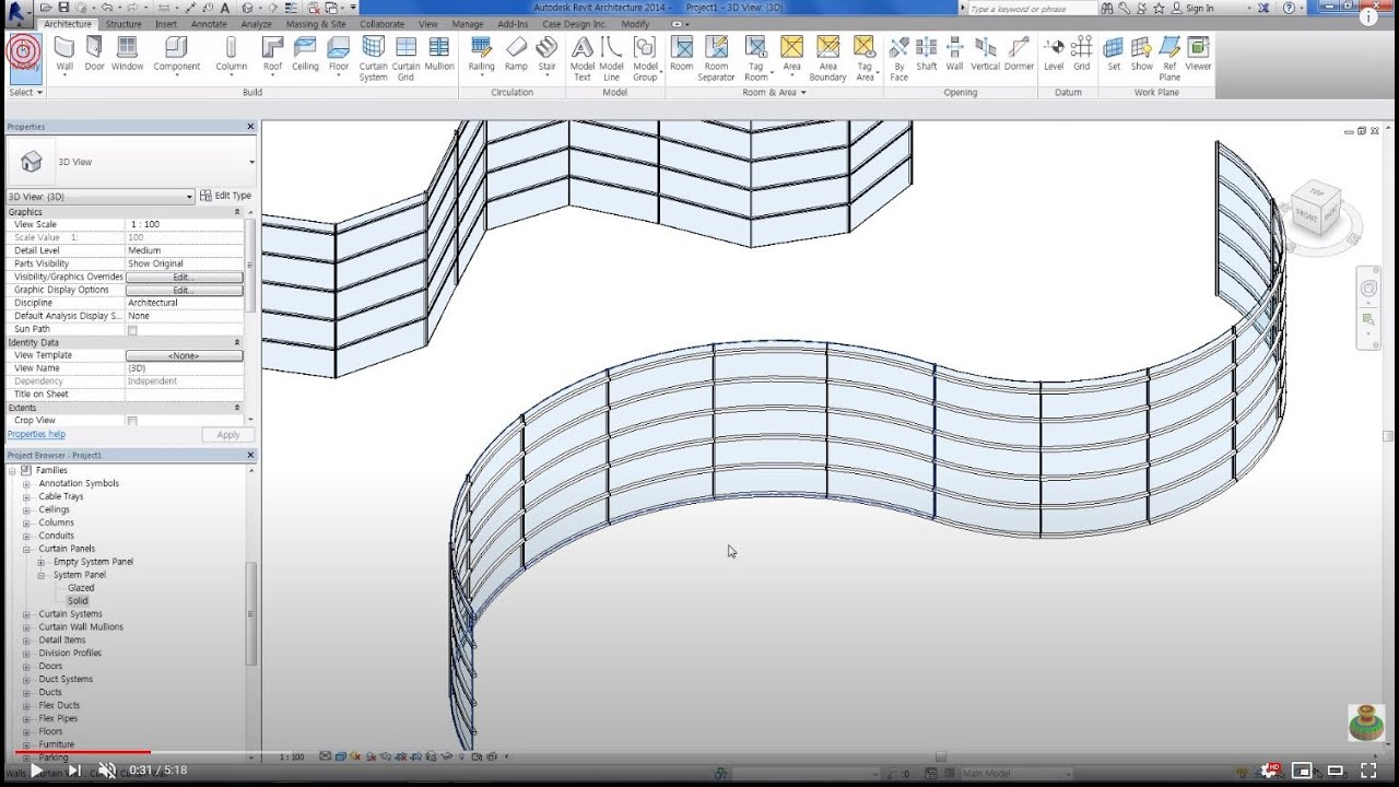 Revit Tips Curved Curtain Wall Youtube