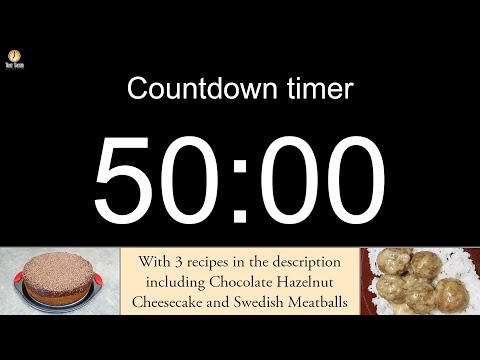 50 minute Countdown timer (with alarm)