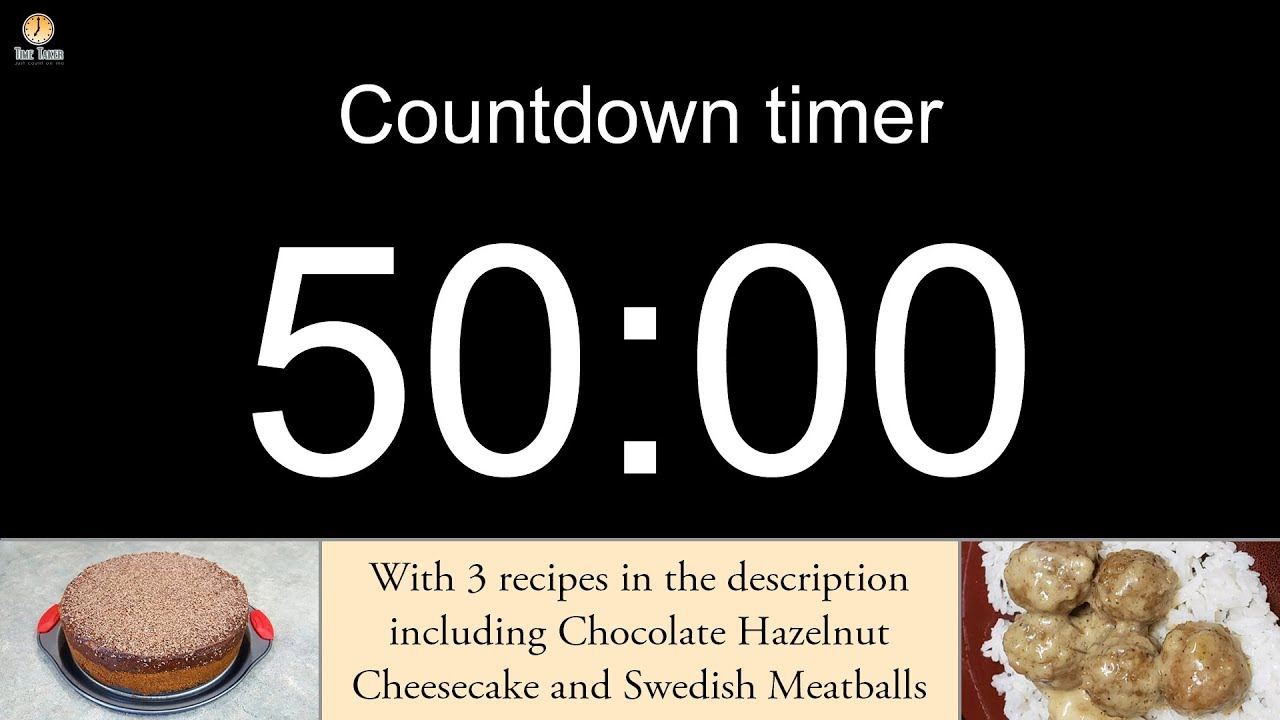 50 minute Countdown timer with alarm (including 3 recipes)