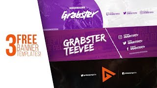 3 FREE YouTube Banner Templates