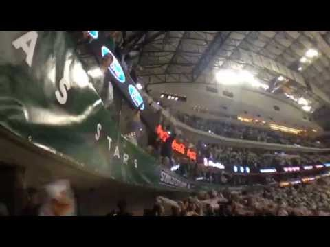 Dallas Stars fans in the American Airlines Center go nuts after a 3-0 shutout of Anaheim