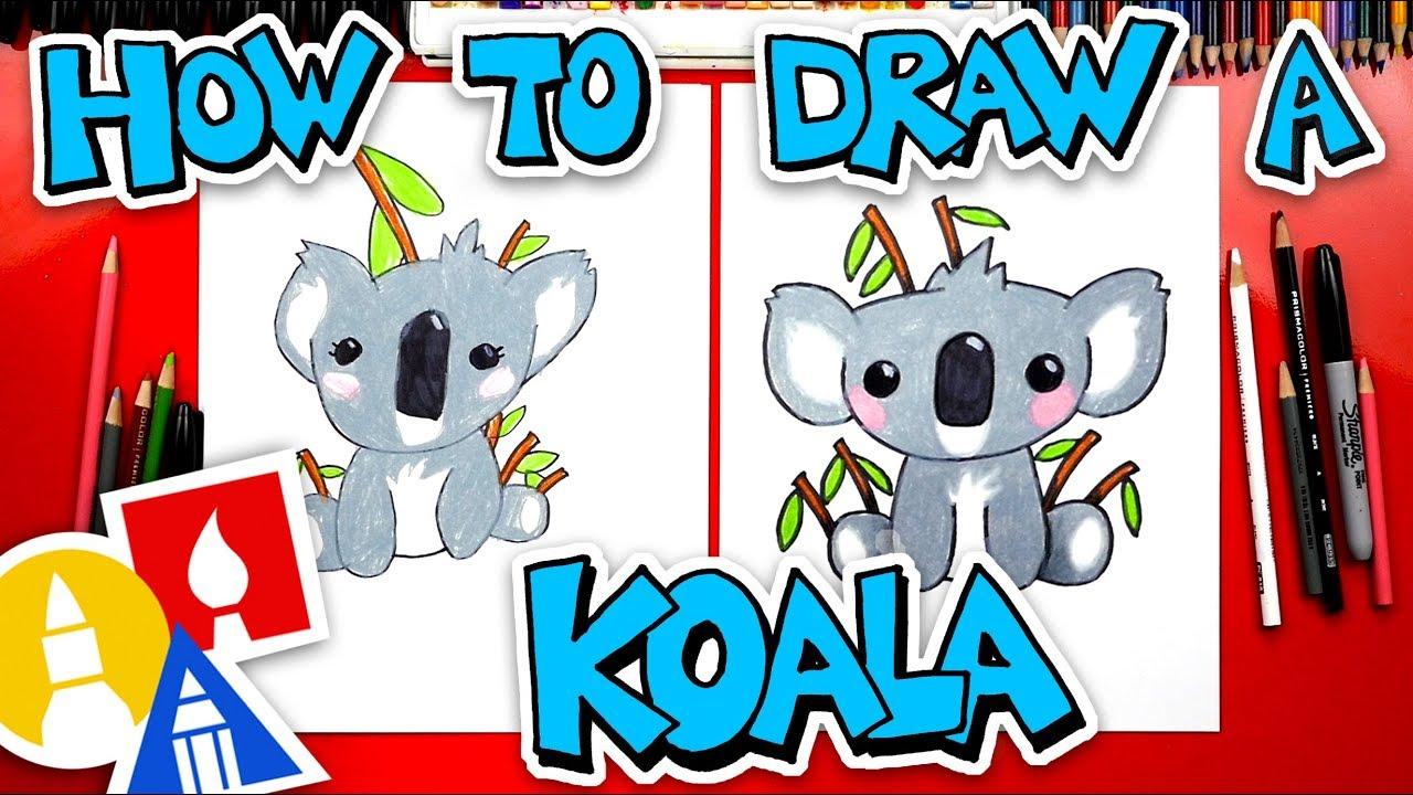 How To Draw A Cartoon Koala Youtube