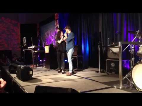 Shira Taylor Sings Holding out for a Hero at Karaoke with Vampire Diaries/Originals Actors