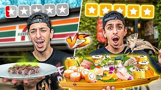 $1 Sushi VS $500 Sushi... **huge mistake**
