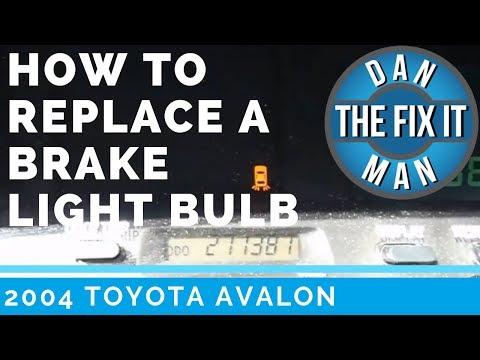 2004 TOYOTA AVALON DASHBOARD WARNING LIGHT🚕? EASY DIY - BRAKE LIGHT BULB REPLACEMENT