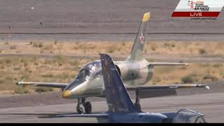 Reno Air Races 2018 - L39 Collision & Video of BOTH Aircraft Landing - Jet Heat (2B)
