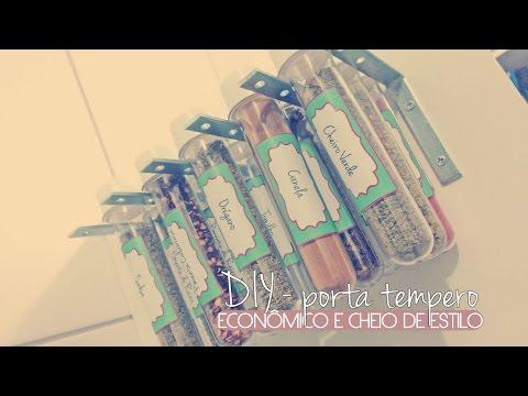 Vídeo Porta temperos tubo de ensaio