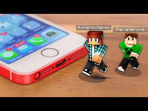 ENTRAMOS DENTRO DO CELULAR NO MINECRAFT !! - Minecraft Mod