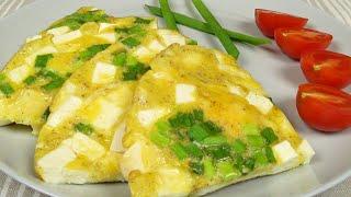 Вкусный завтрак за минуты Омлет с Адыгейским сыром Delicious breakfast in minutes