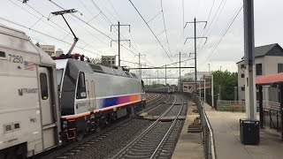NJ Transit & Amtrak HD 60fps: Northeast Corridor Evening Rush Hour @ Elizabeth 5/17/16