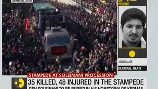 35 killed, 48 injured in stampede at slain general Qassim Suleimani's funeral
