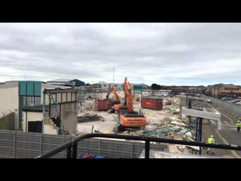 Blackpool airport terminal demolition