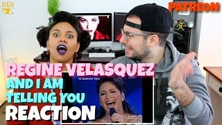 Regine Velasquez - And I Am Telling You | Roots To Riches | REACTION