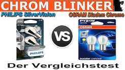 Philips SilverVision  vs Osram Diadem Chrome | Chrom-Optik Blinkerlampen Vergleich