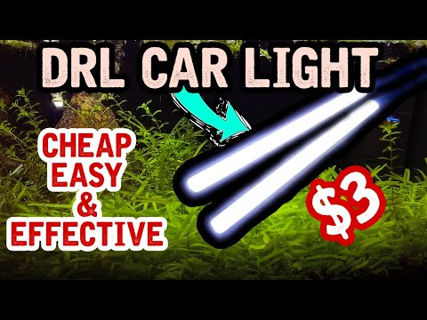 DIY LED AQUARIUM LIGHTING FOR PLANTED TANK || CHEAP EASY AND EFFECTIVE