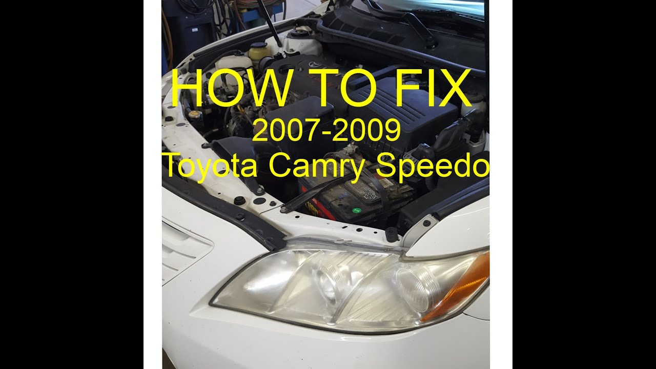 hight resolution of how to fix toyota camry speedometer not working 2007 09 youtubehow to fix toyota camry speedometer