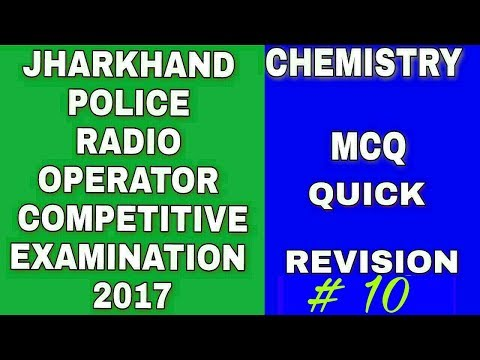 JSSC Radio Operator Special  Chemistry Part 10 (Last Part)