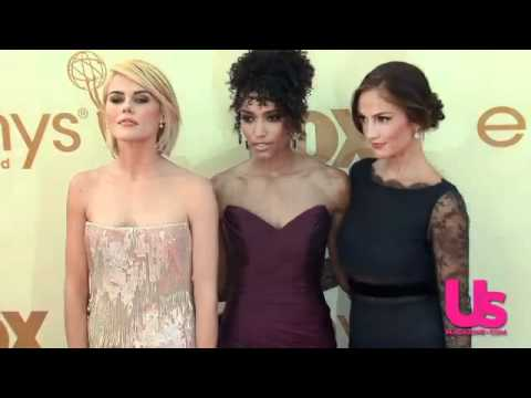 d0947901d4af Christina Hendricks Shows Off Massive Cleavage on Emmy Carpet - YouTube