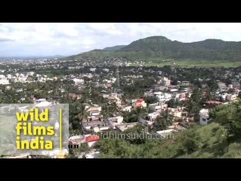 Bird's eye view of Satara town - Maharashtra