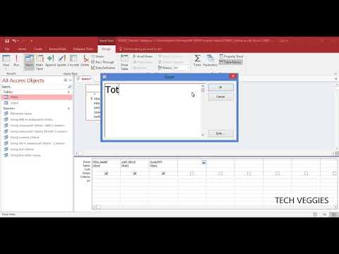 How to create a Calculated Field using Access Query Design | Tech Veggies