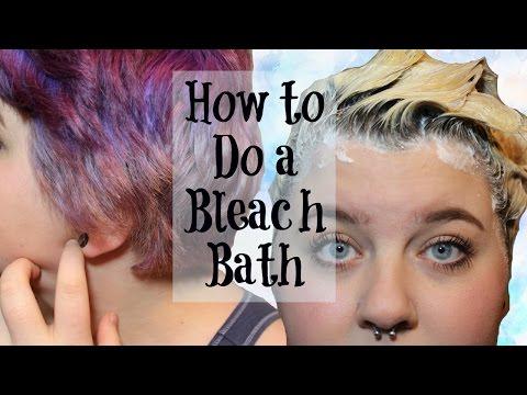 How To Do A Bleach Bath | Hair Tutorial
