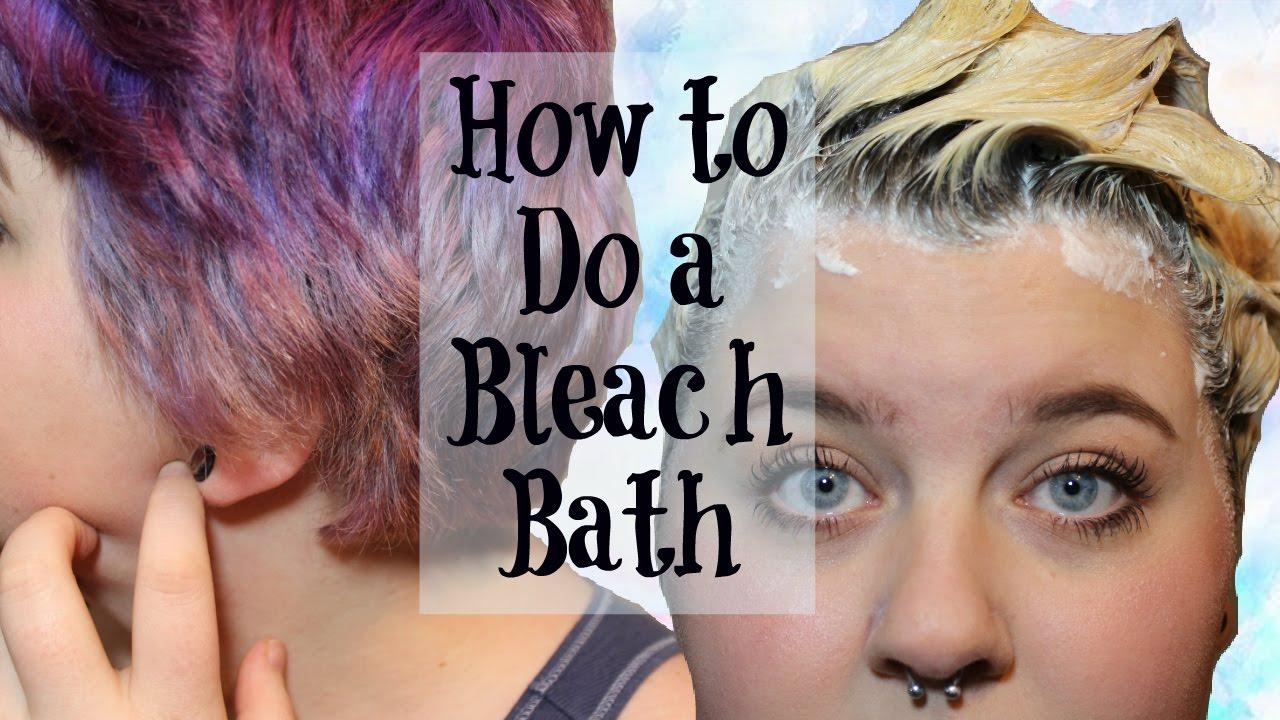 How To Do A Bleach Bath Hair Tutorial Youtube