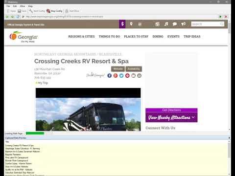Extracting data from www.exploregeorgia.org - WebHarvy Web Scraper