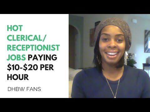 Hot Clerical/ Admin Online Jobs Paying $10-$20 Per Hour