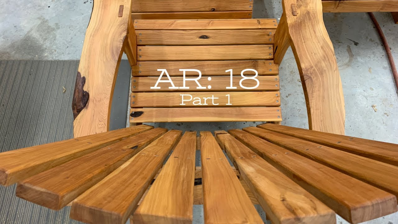 How to build a kid size Adirondack chair part 1. - YouTube