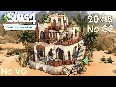 Building with the Courtyard Oasis Kit || No CC || No T.O.O.L. || Speedbuild |